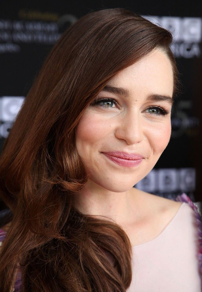 emilia clarke smiles with her whole face