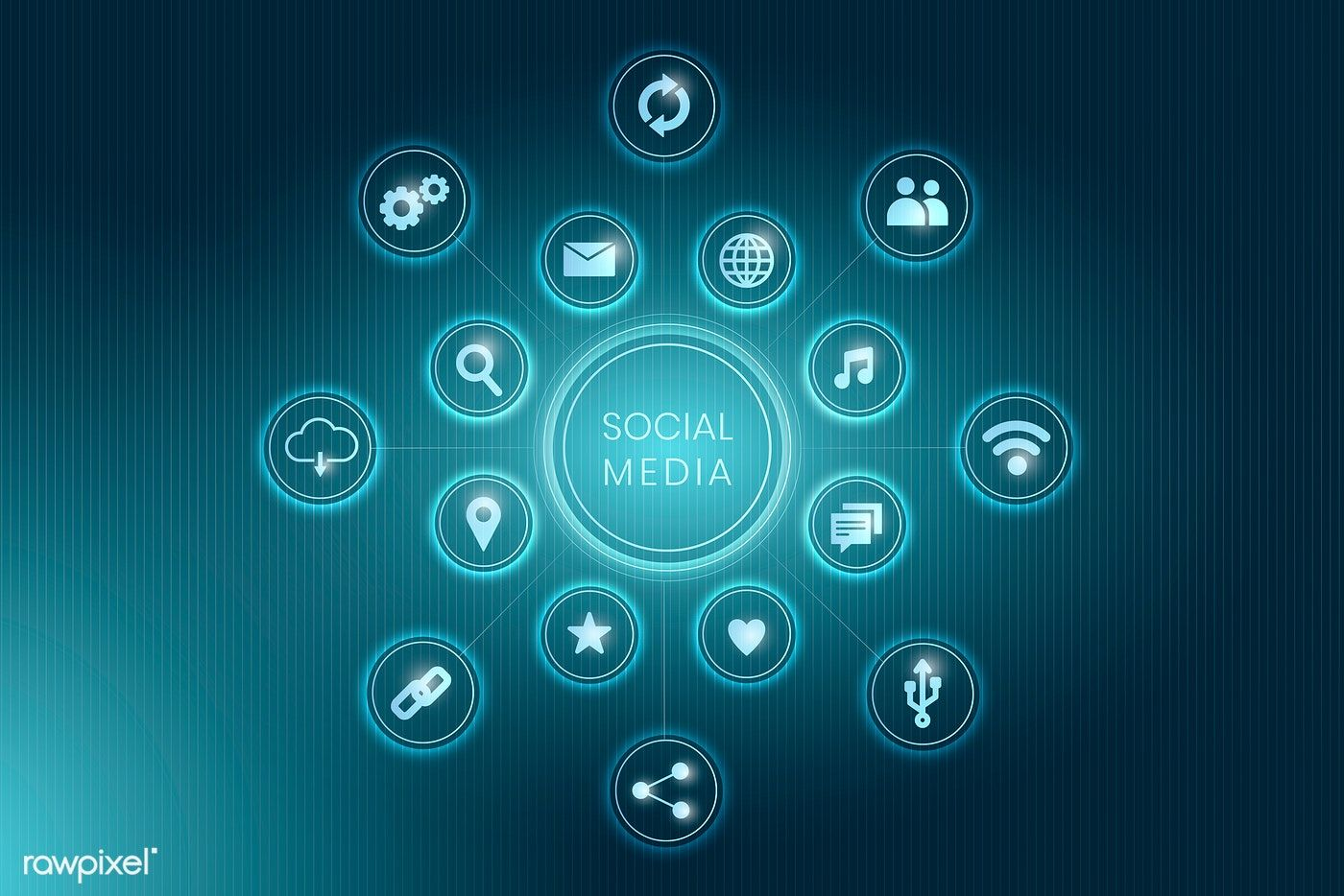 Download premium illustration of Blue social media
