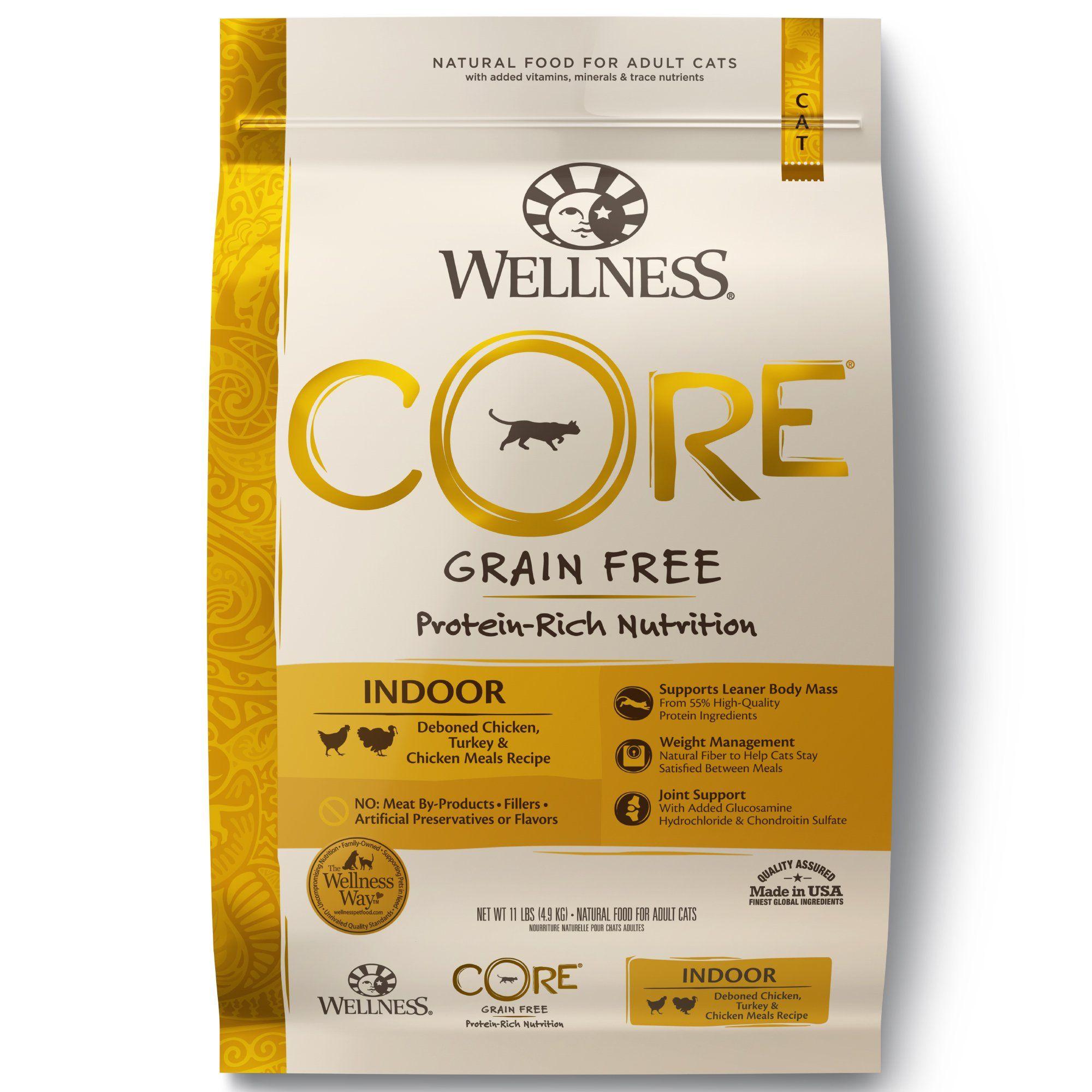 Wellness Core Natural Grain Free Chicken Turkey Dry Indoor Cat
