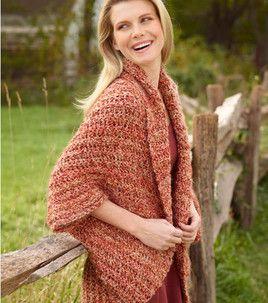 Free Pattern Simple Crochet Shrug : august :  Shop | Joann.com