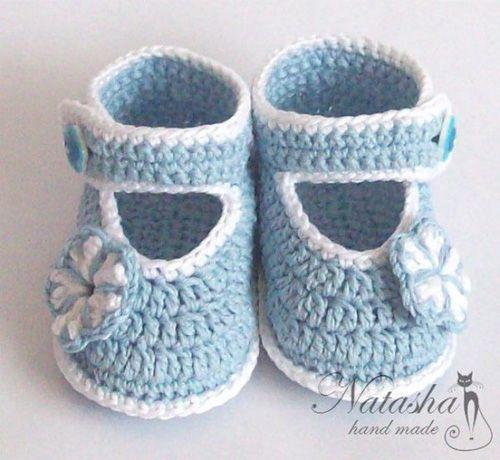 Patron para tejer zapatitos para bebes a crochet | ganchillo ...