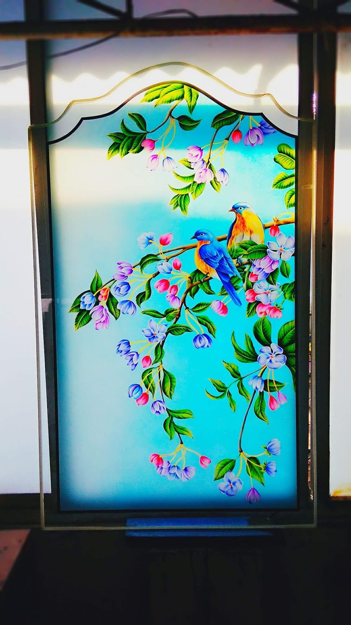 Pin By Jeetu Pawra On Glass Art A V M Glass Painting Designs Stained Glass Art Glass Etching Designs