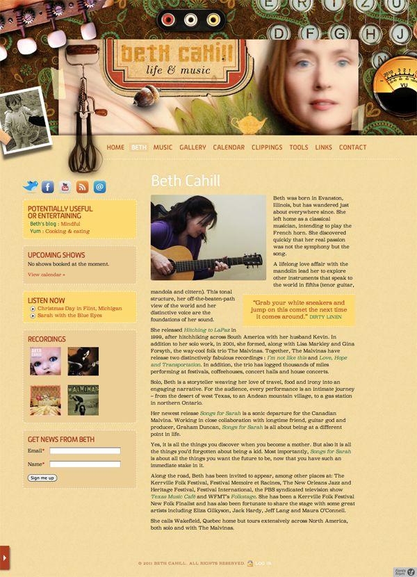 Website, bethcahill.ca