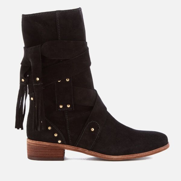 Chloé Women's Leather Mid Calf Heeled Boots Nicekicks For Cheap Discount Free Shipping Wide Range Of Clearance Outlet Locations C13GJOY