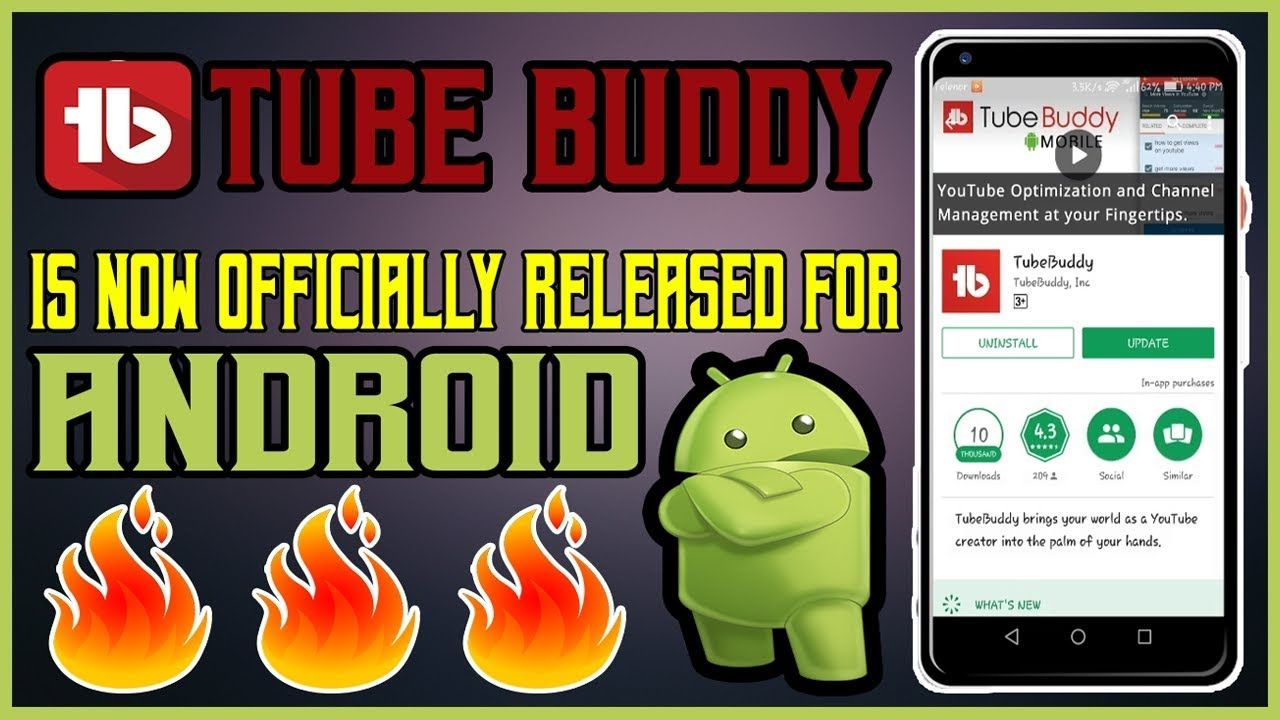 Tube Buddy Official App For YouTube Channel I App Review I
