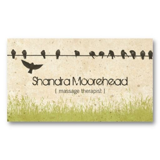Birds natural massage therapist business card business cards birds natural massage therapist business card fbccfo Images