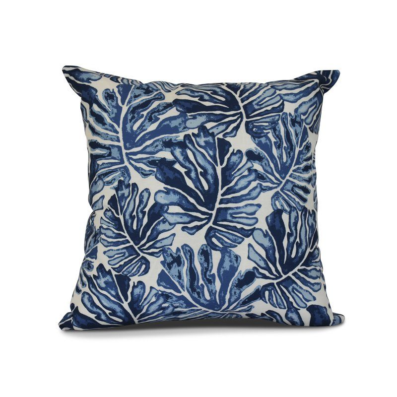 Thirlby Palm Leaves Outdoor Throw Pillow Blue Throw Pillows Blue Pillows Decorative Outdoor Pillow Collections