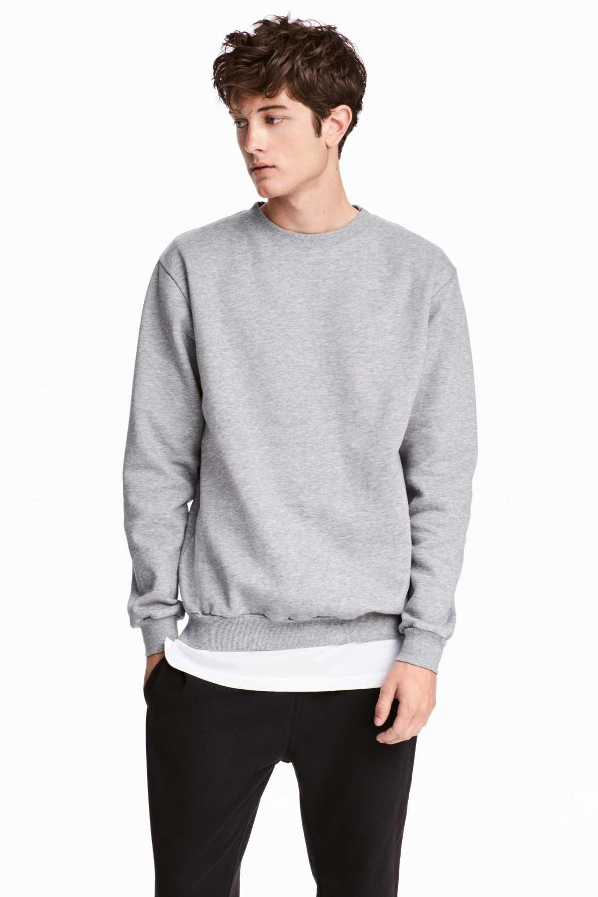 9ab3d081 Relaxed-fit Sweatshirt | Gray melange | MEN | H&M US | Character ...