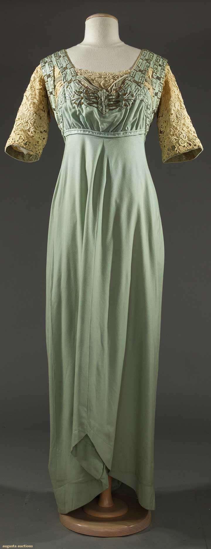 Flannel formal dress  SKY BLUE FLANNEL DINNER DRESS c   May   Sturbridge