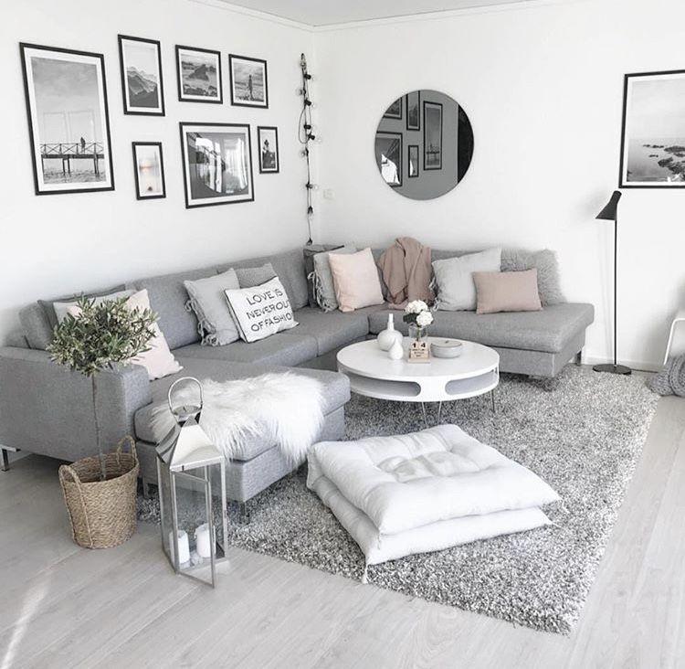 Coisas para a sala  Wohnung wohnzimmer, Wohnzimmer grau