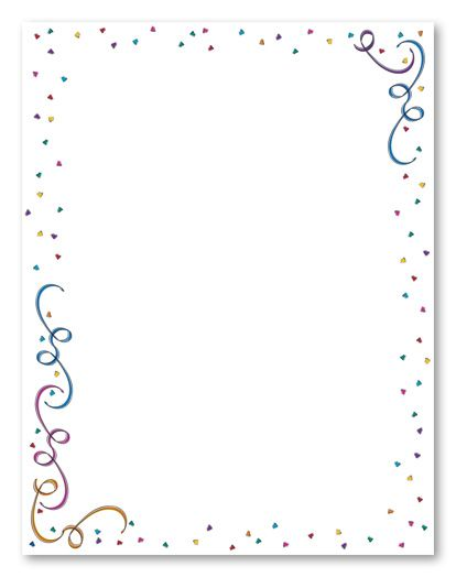 Party Border Paper | the colorful border will add ...
