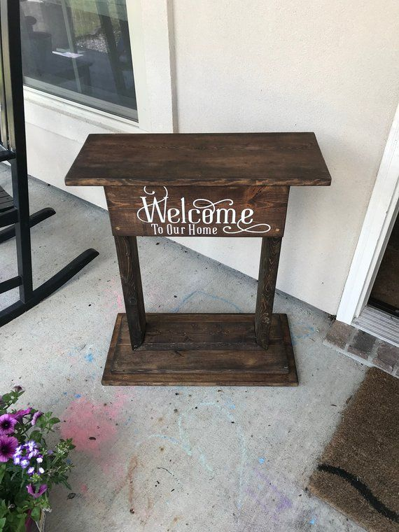 Welcome Planter Welcome To Our Home Porch Decor Welcome Porch Decorating Decor Wood Crate Coffee Table