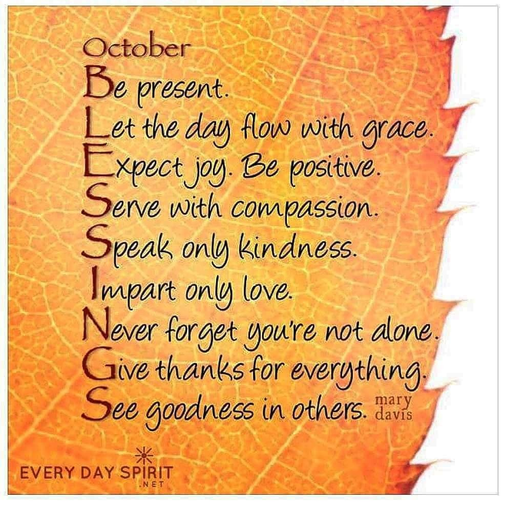 October blessings October quotes, Quotes, Inspirational