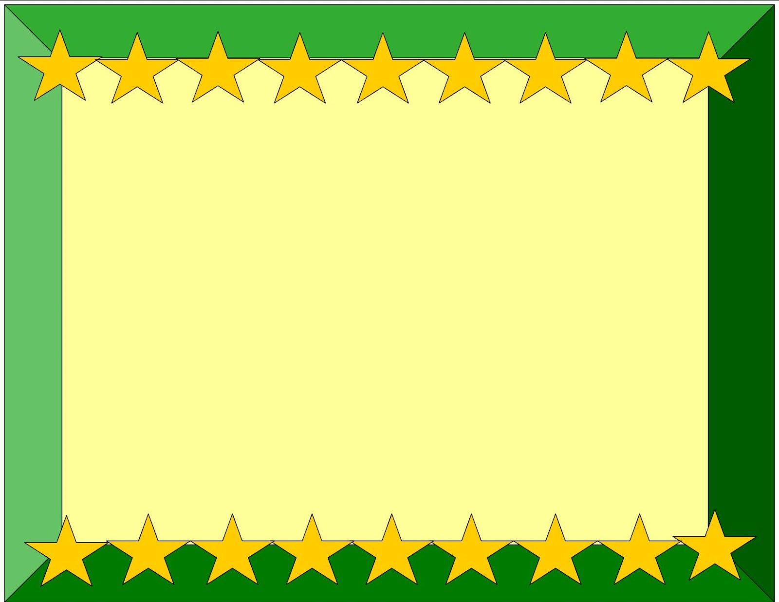 Yellow And Green Certificate Border Design 2014-15