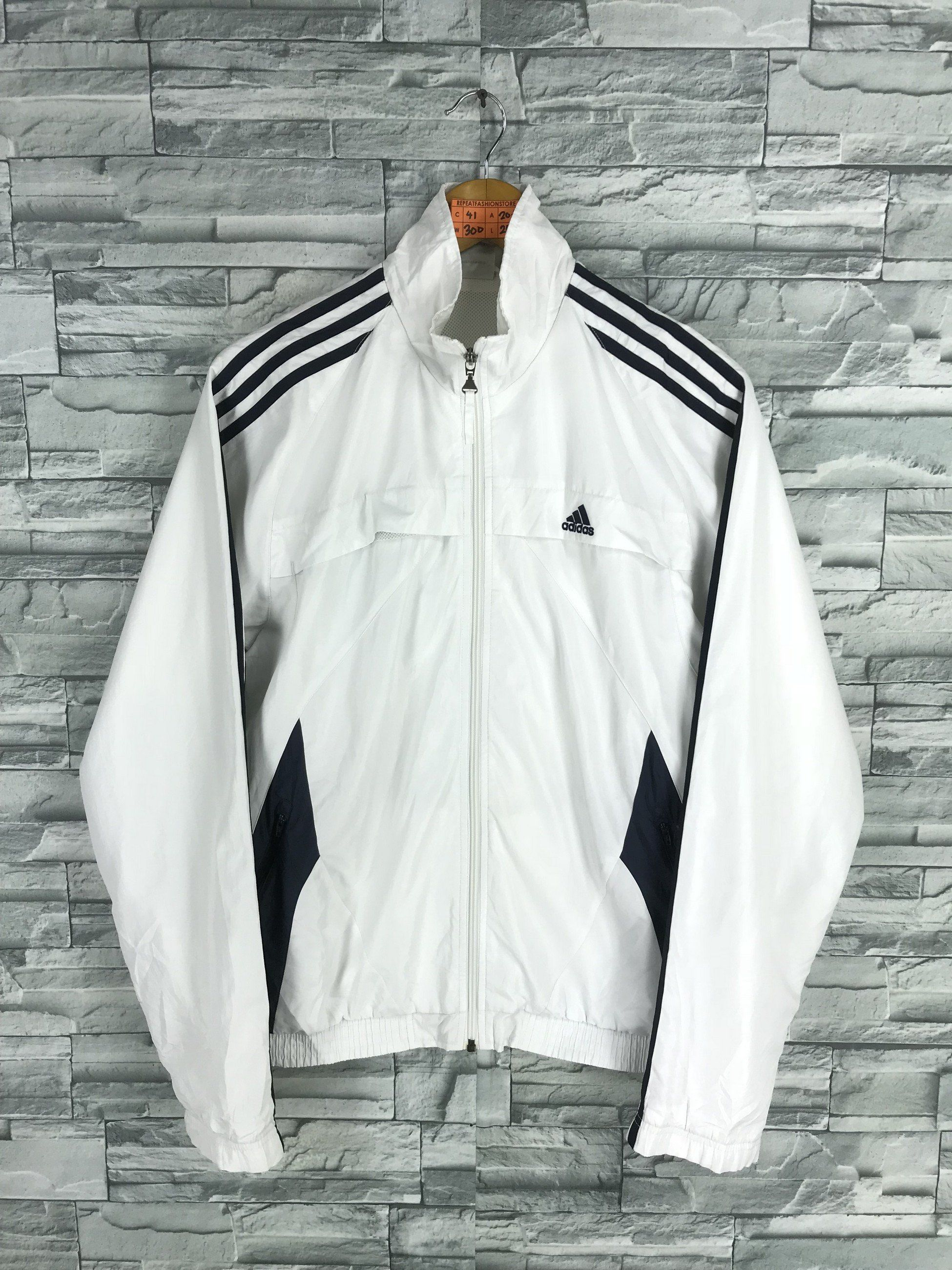 ADIDAS Jacket Windbreaker Mens Medium Vintage 90's Adidas