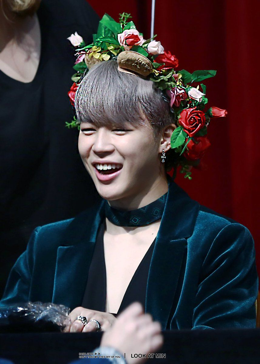 Jimin taken by look at min happy jimin with christmas flower crown jimin taken by look at min happy jimin with christmas flower crown izmirmasajfo