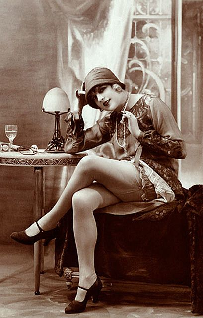 Vintage Girl With Stockings