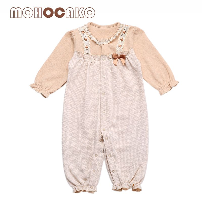 4e32a2e57 Naturally Colored Cotton Newborn Baby Girls Rompers