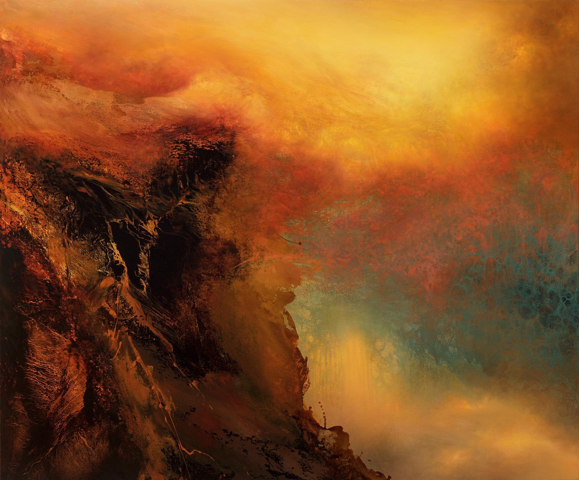 dark abstract paintings