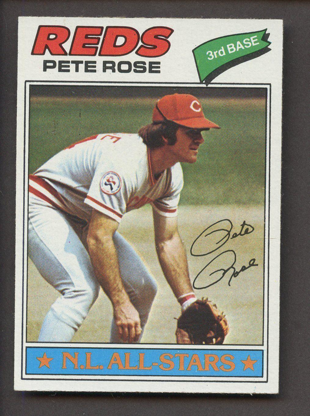 1977 topps 450 pete rose cincinnati reds baseballcards