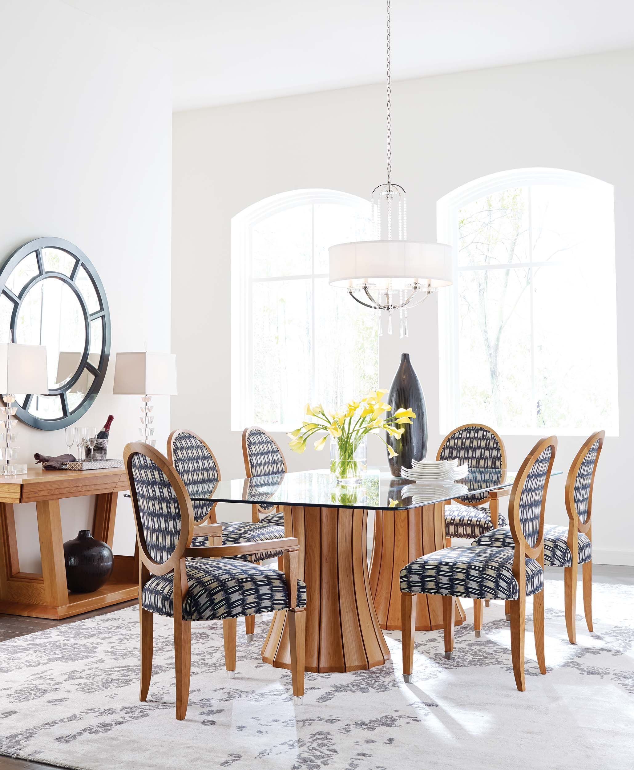 Casual Modern Dining Room: Stickley Modern Dining Room Furniture- The Broadway Double