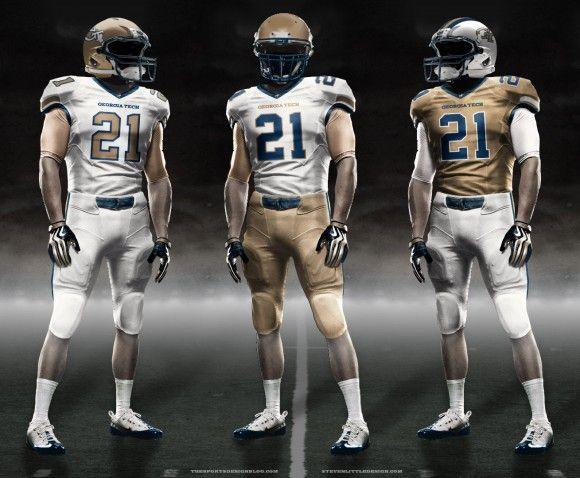 Uniform Concept Georgia Tech Football Georgia Tech Football Football Uniforms Football