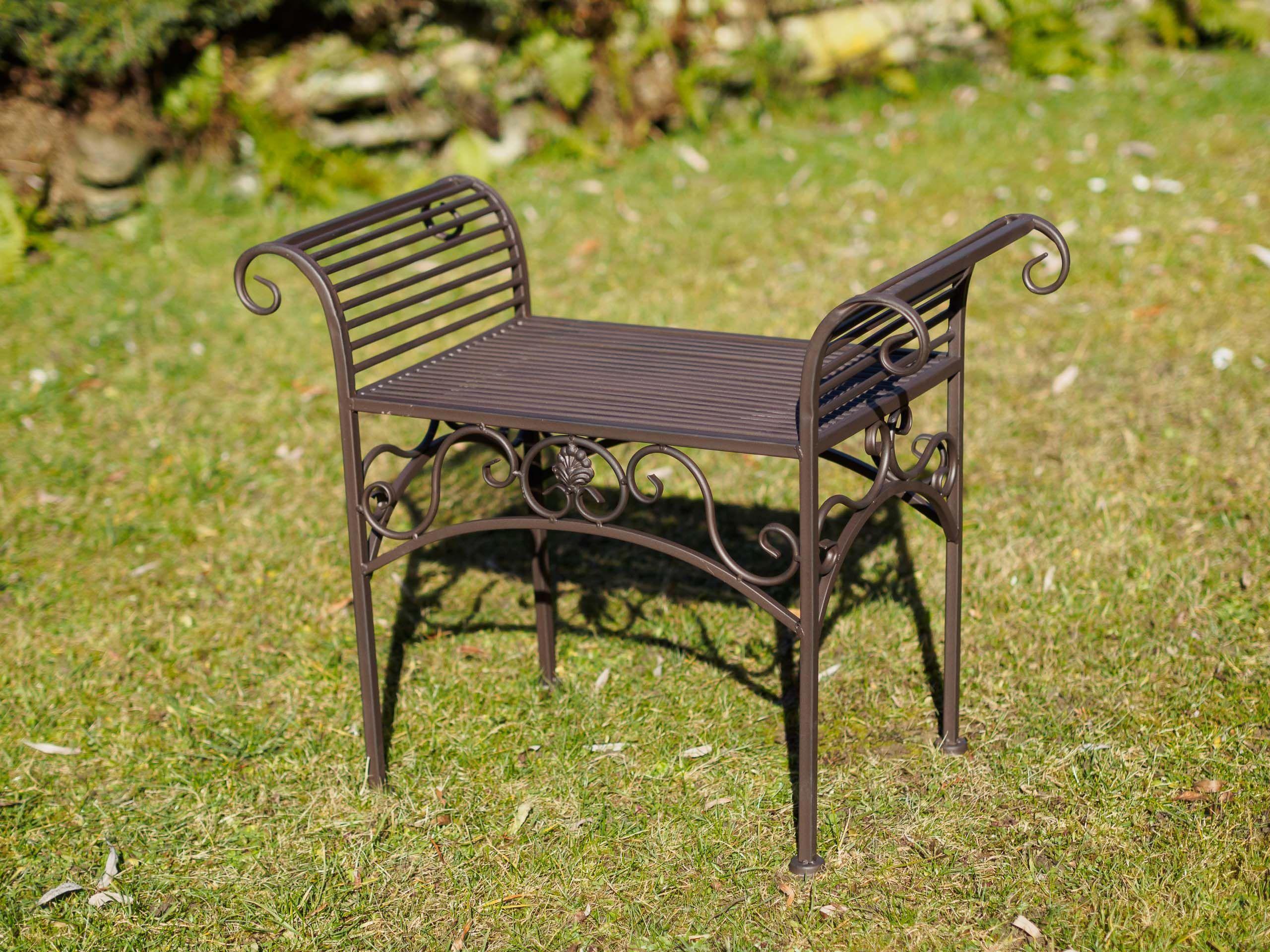 Gartenbank Eisen Metall Antik Stil Garten Bank Gartenmobel Braun 70cm Gartenbank Gartenbank Eisen Gartenbank Metall