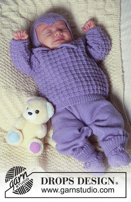 Photo of Rocking in Lavender / DROPS Baby 4-19 – Gratis strikkeoppskrifter av DROPS Design