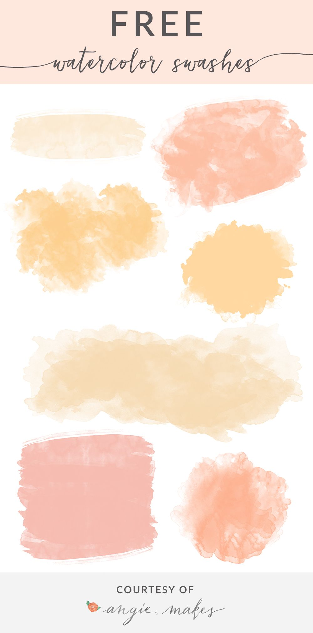 Free Watercolor Swashes Backgrounds Angie Makes ภาพประกอบ สต กเกอร สม ดออร แกไนเซอร