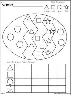 easter egg shapes graph math pinterest easter kindergarten