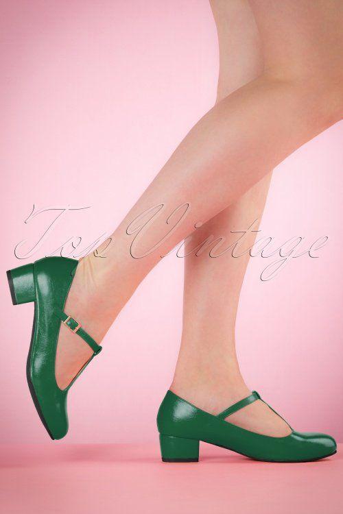 c3f77844ee9a Lulu Hun Green Chrissie Block Heel Shoes 401 40 21706 03222017 001W