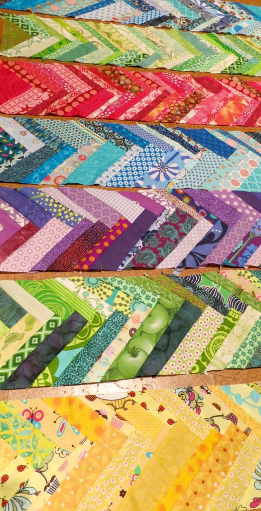 Scrappy French Braid Quilt From My Sewing Table