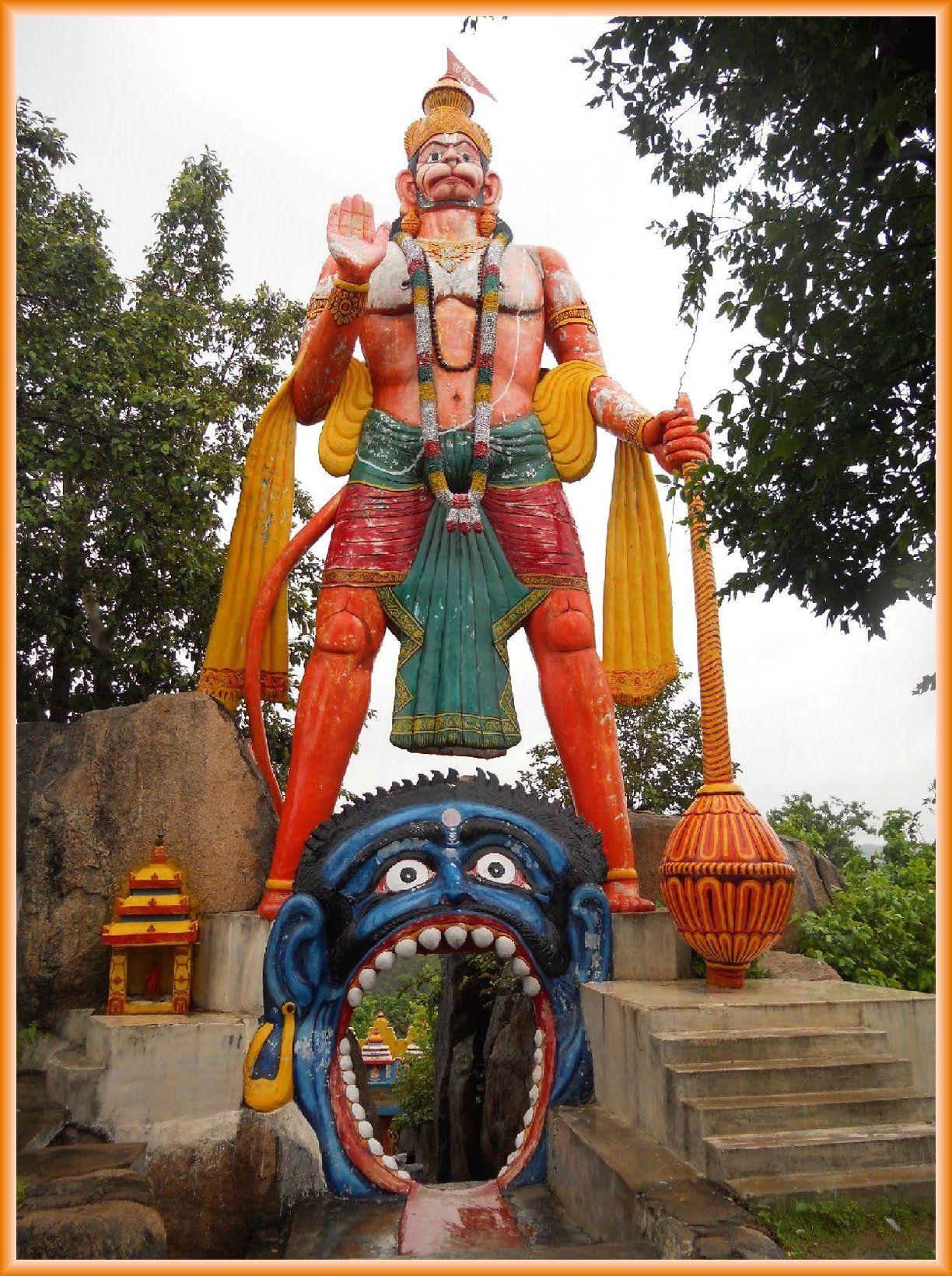 Scarlet Colour Tallest Sculpture Of Lord Kapiraaj Hanuman At Lord