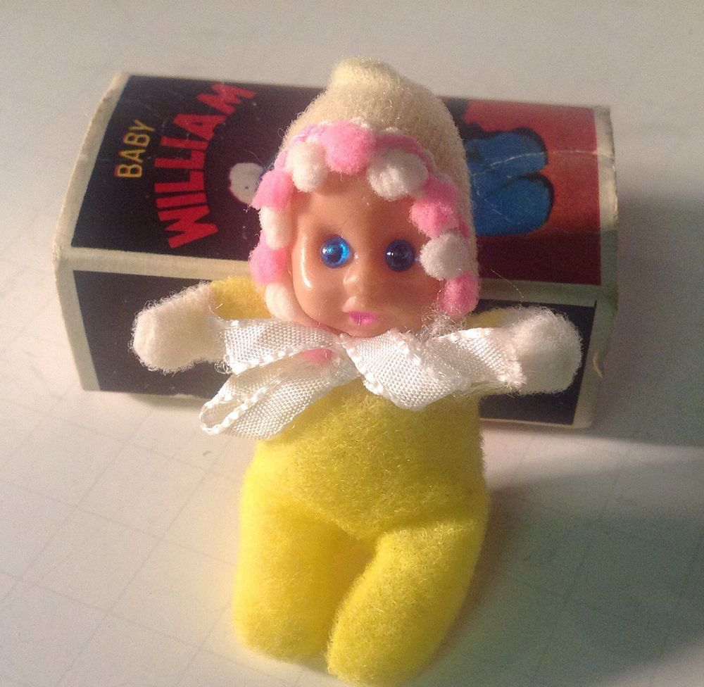 Vintage 1970 S Baby William Miniature Doll In Matchbox