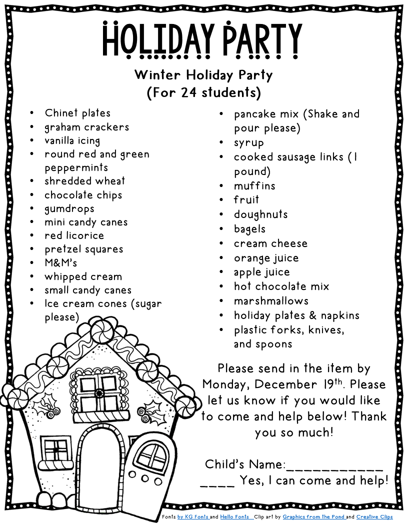 Christmas Party Program Ideas Part - 16: Itu0027s That Time Of Year.Are You Prepared?- Editable Christmas Party Parent  Letter And Supply List