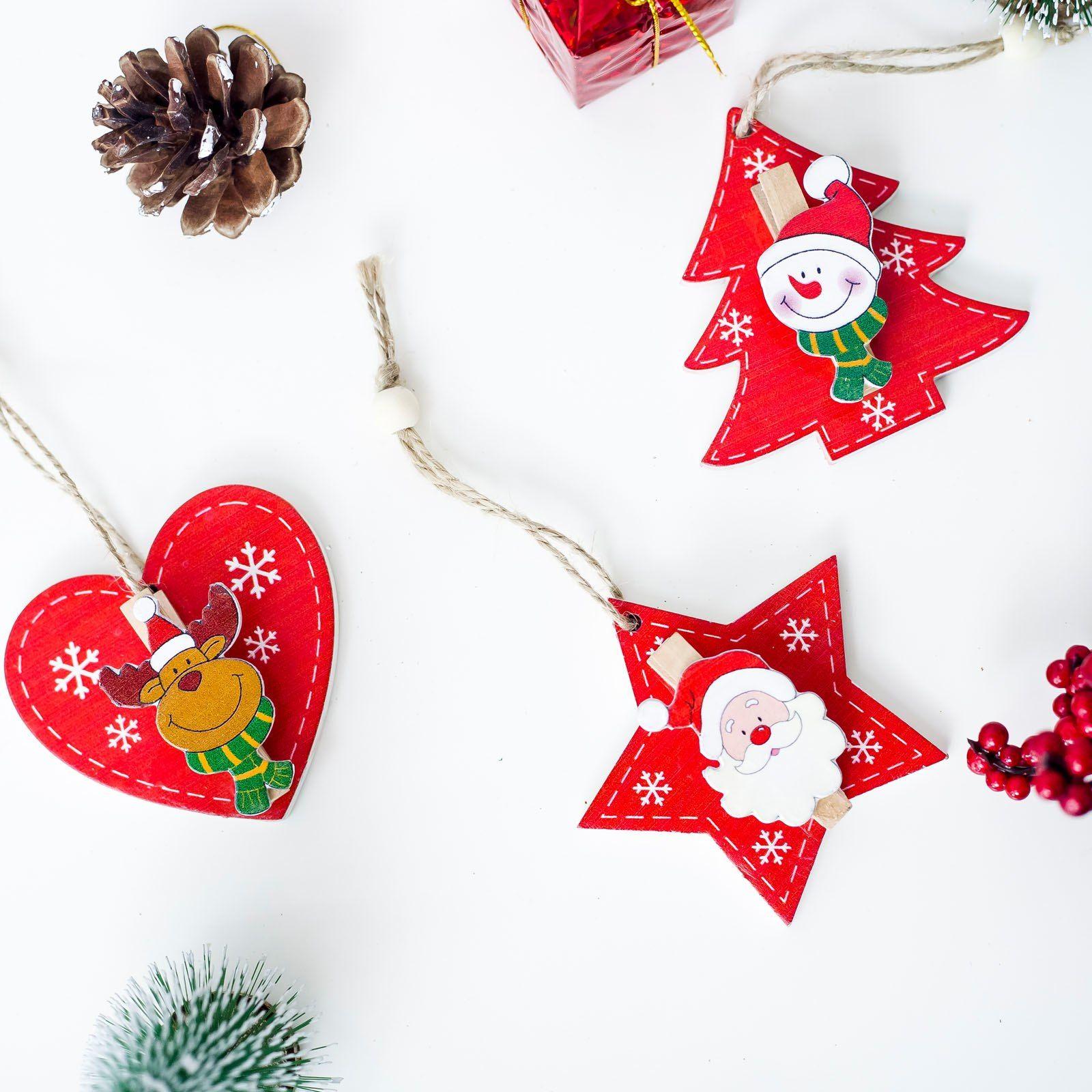 Frohe Weihnachten Anhänger.Günstige 2019 Neue Jahr Holz Weihnachten Baum Ornamente Anhänger