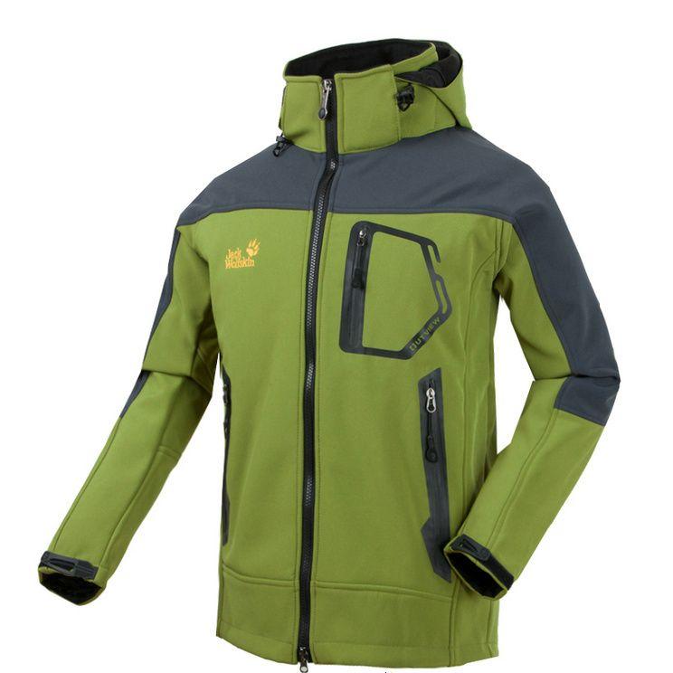 509233f1f7 Jack Wolfskin Mens Tempest Hoodie Jacket Green   Men's style   Green ...