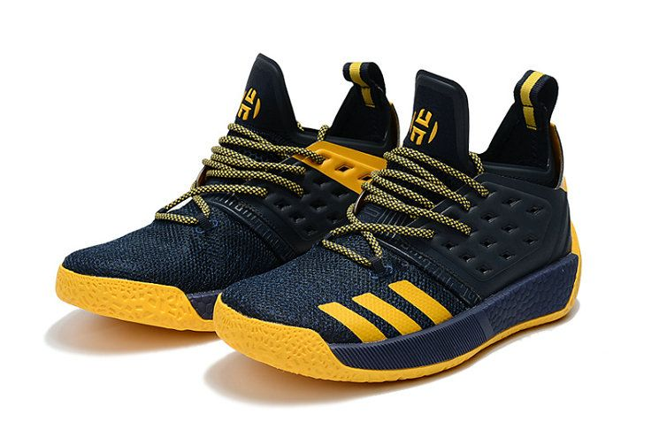 timeless design 953a6 95b6d Cheapest And Latest 2018 Adidas Harden Vol 2 Navy Blue Yellow Basket Ball  Shoes