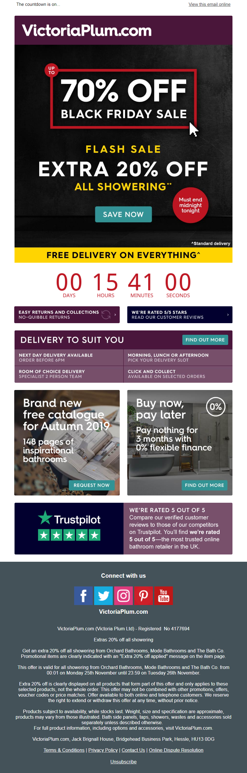Black Friday Sale Email With Countdown Timer From Victoriaplum Com Emailmarketing Email Marketi Black Friday Email Black Friday Sale Email Black Friday Sale