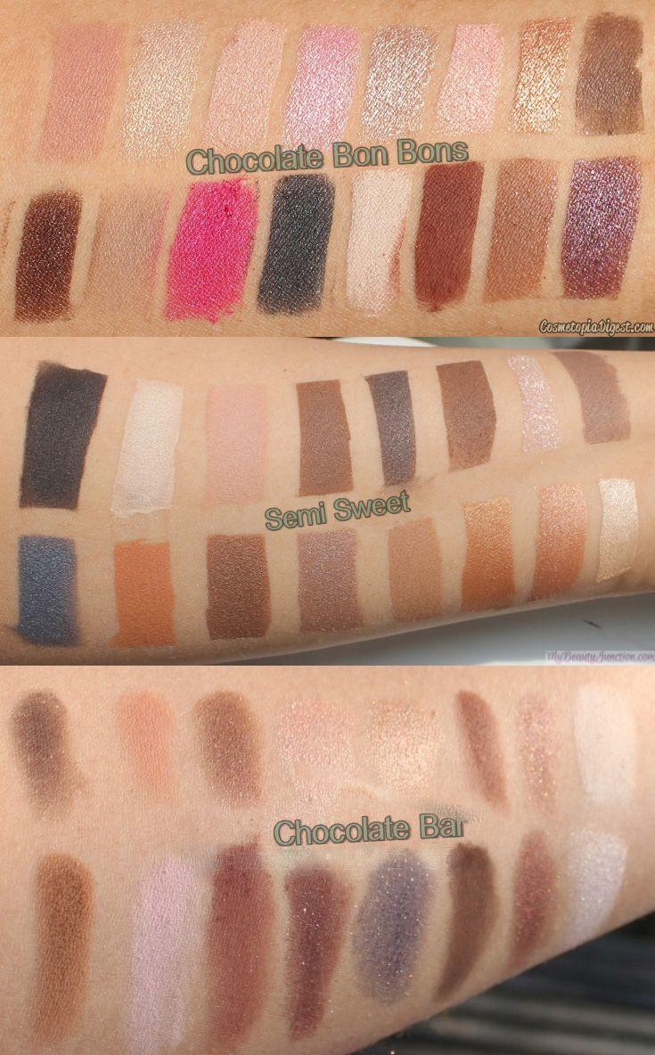 Too Faced Chocolate Bon Bons Palette Vs Semi Sweet Vs