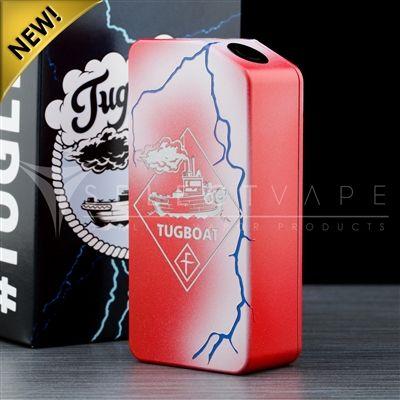 Tuglyfe v2 Unregulated Box Mod - Red/White/Blue Lightning