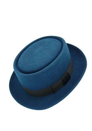 2f086a58759 HATsanity Unisex Vintage Wool Felt Pork Pie Hat Blue HATsanity http   www.