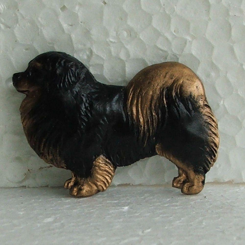 Tibetan Spaniel Black Tan Brooch Dog Breed Jewellery