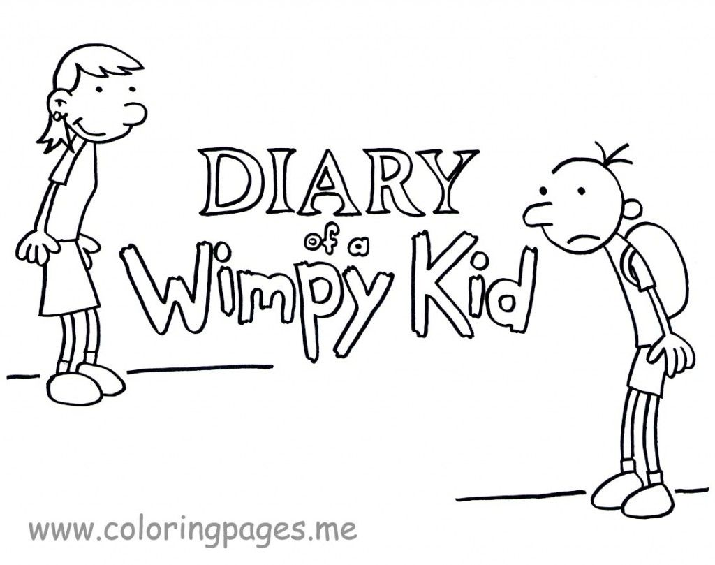 diary of a wimpy kid coloring pages # 3
