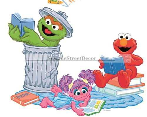 8 Elmo Sesame Street Characters Wall Decal Sticker Nursery Kids Room Decor  Art