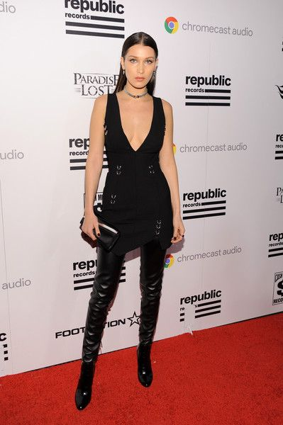 a49a5b5f81d Bella Hadid Over the Knee Boots - Over the Knee Boots Lookbook - StyleBistro