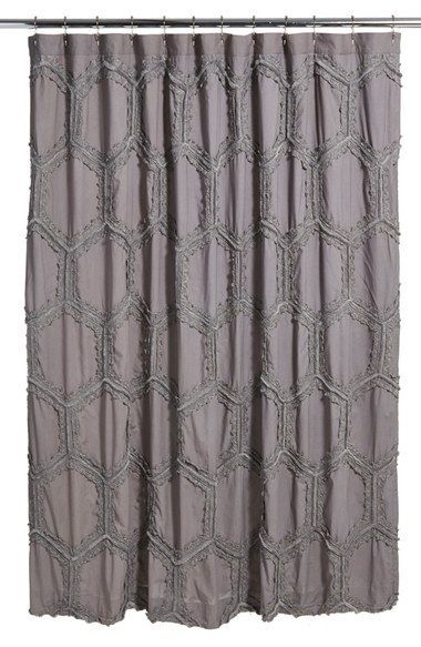 At Home Tufted Lace Shower Curtain Lace Shower Curtains Gray