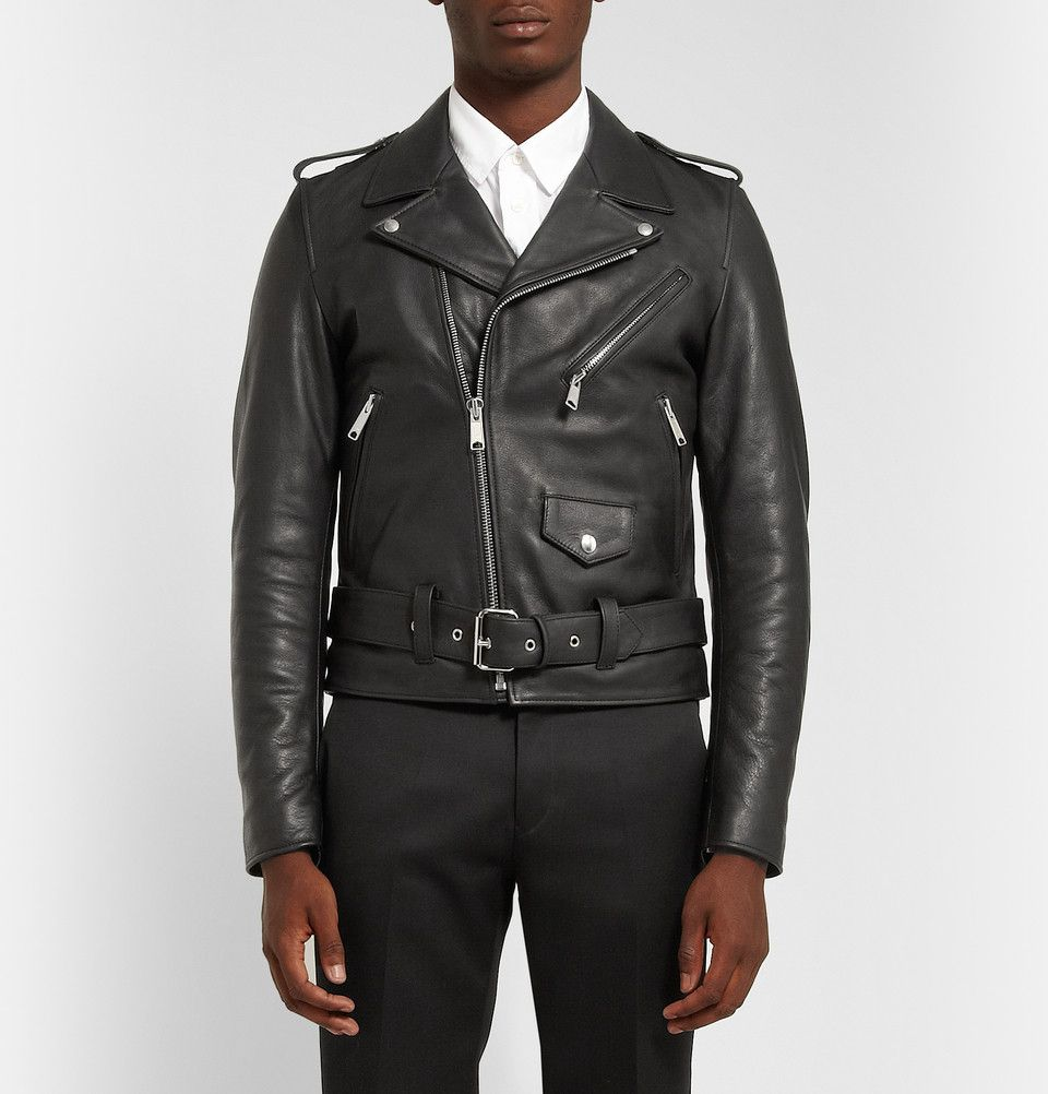 Sandro Slim Fit Leather Biker Jacket Mens Designer Fashion Menswear Jackets [ 1002 x 960 Pixel ]