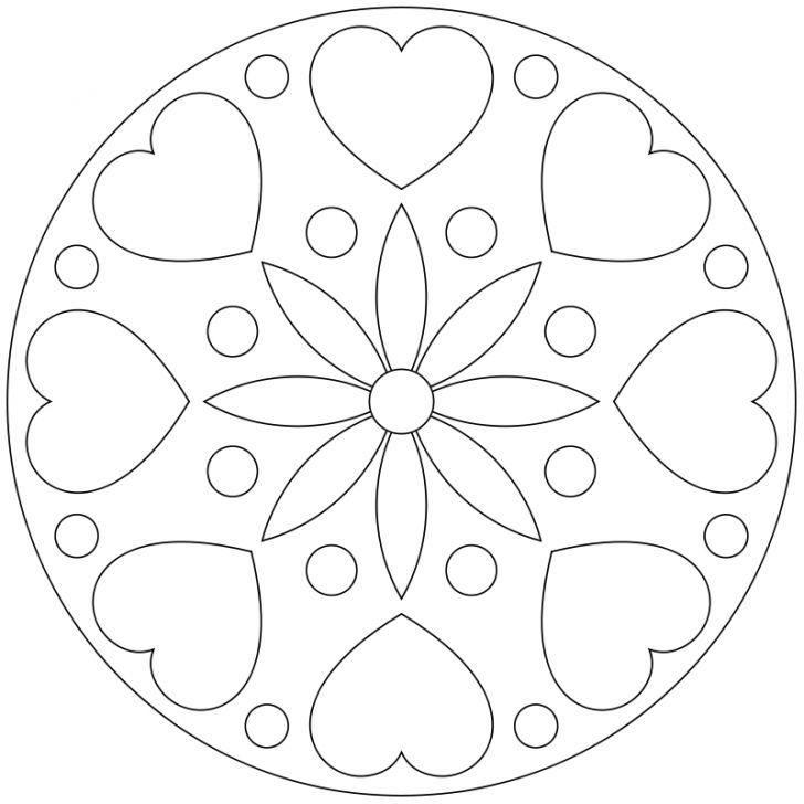 Mandala-Ausmalbild Nr. 101 | CD molde | Pinterest | Ausmalbilder ...