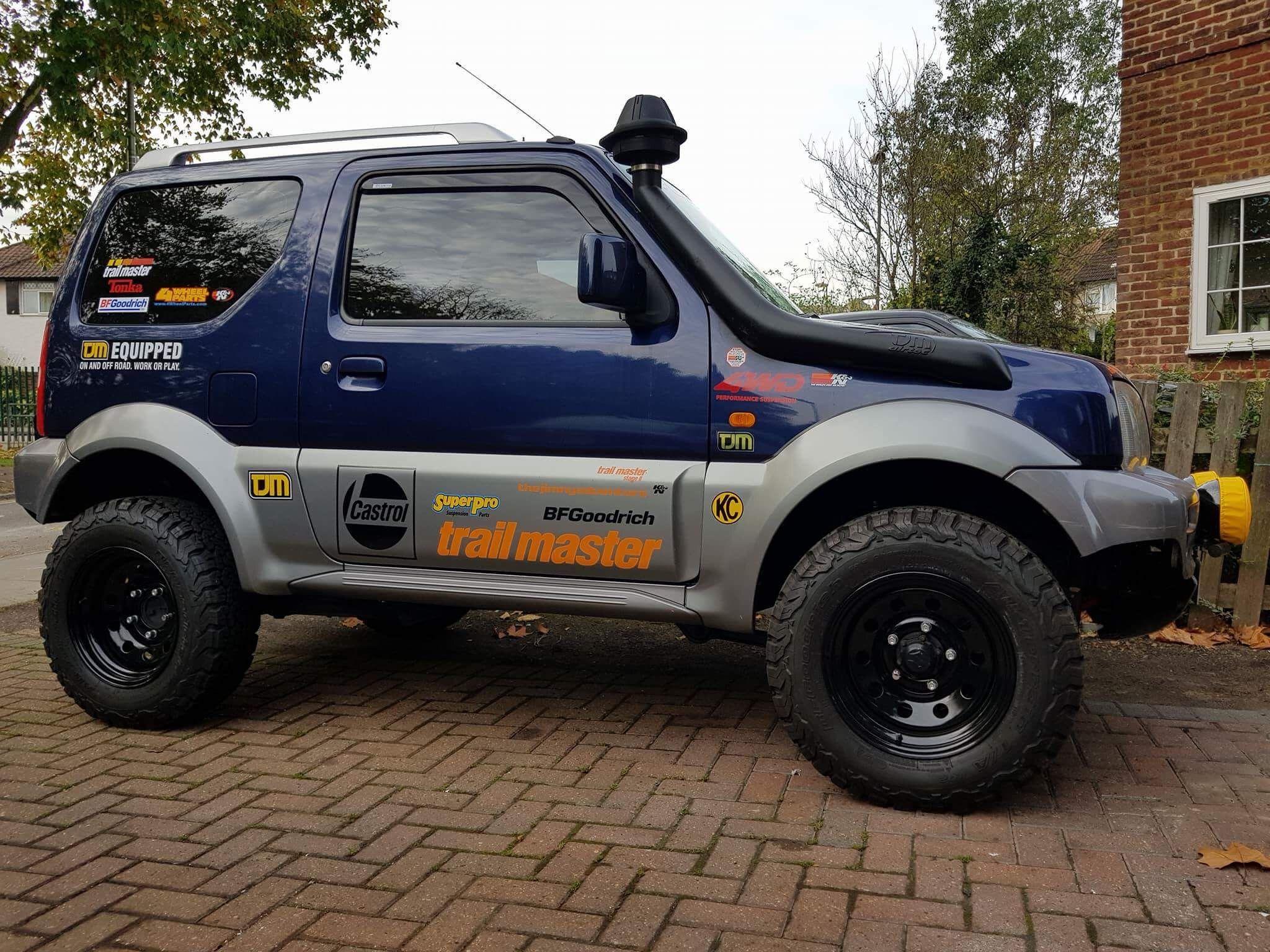Suzuki Jimny Trimmed Bumpers Suzuki Jimny Trailmaster 2 Lift Bf Goodrich Tjm Snorkel Kc Daylighters